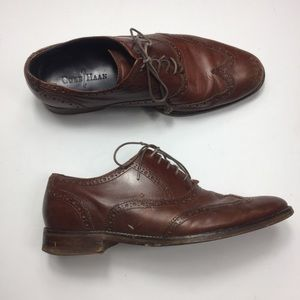 Cole Haan Men's Brown Leather Wingtip Oxford Shoes